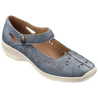 Hotter Chile Mary Jane Court Shoes Steel Blue
