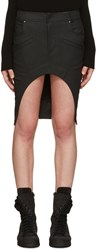 Haider Ackermann Black Asymmetric Denim Miniskirt