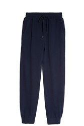 120 Linen Coulisse Trousers Navy