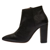 Selected Femme Thora Block Heeled Ankle Boots Black