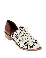 Matisse Quake Calf Hair And Leather Dorsay Oxfords