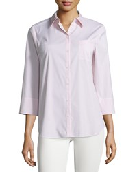 Lafayette 148 New York Pinstripe 3 4 Sleeve Blouse Bellini Multi
