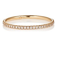 Zoe Women's White Diamond And Rose Gold Band No Color Beige No Color Beige