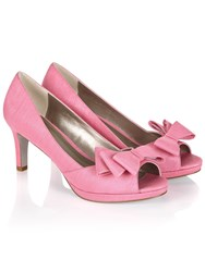 Jacques Vert Layered Bow Trim Shoe Pink