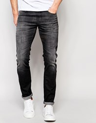 Selected Skinny Italian Washed Black Jeans Black