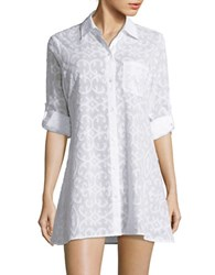 Tommy Bahama Solid Long Sleeve Embossed Shirt White