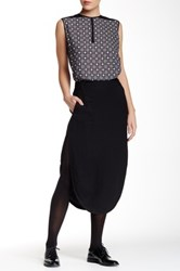 L.A.M.B. Shirt Tail Hem Skirt Black