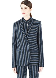 Gabriele Colangelo Striped Blazer Jacket Green