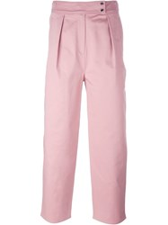 Kenzo Cropped Trousers Pink And Purple