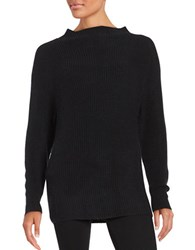 Lord And Taylor Knit Mockneck Sweater Black