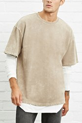 Forever 21 Oil Wash Terry Knit Tee