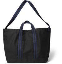 Engineered Garments Courtney Webbing Trimmed Cotton Canvas Tote Bag Black