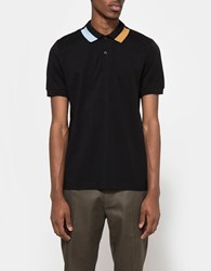 Fred Perry Block Tipped Pique Shirt Black