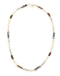 Emily And Ashley Greenbeads By Emily And Ashley Long Beaded Necklace Natural