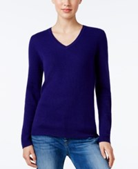 Charter Club Cashmere V Neck Sweater Only At Macy's Wine