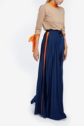 Msgm Palazzo Trousers Navy