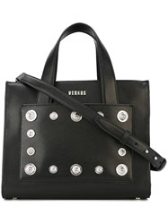 Versus Lion Head Studded Bag Black