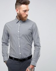 New Look Check Shirt In Navy In Regular Fit Navy