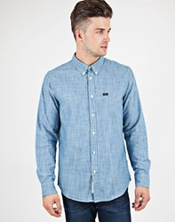 Lee Button Down Shirt In Indigo Chambray