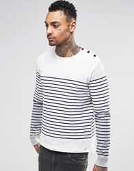 Diesel Crew Jumper T Venera Breton Cotton Knit In White White