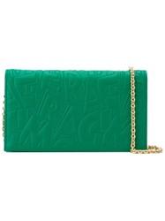 Salvatore Ferragamo Small Embossed Crossbody Bag Green