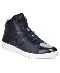 Armani Jeans Men's Hightop Sneakers Men's Shoes Navy