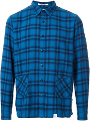 Bedwin And The Heartbreakers Plaid Button Down Shirt Blue