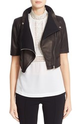 Yigal Azrouel Women's 'Gimmy' Crop Lambskin Leather Jacket