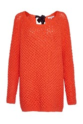 Great Plains Textured Tonic Bow Tie Tunic Jumper Red