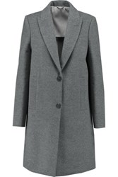 Brunello Cucinelli Wool And Cashmere Blend Coat Gray