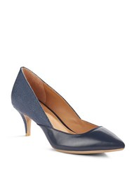 Calvin Klein Patna Leather Pumps Navy Blue