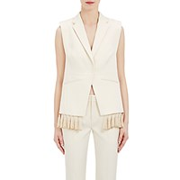 Foundrae Women's Tassel Trimmed Vest Cream