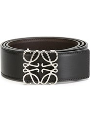Loewe Anagram Buckle Belt Black