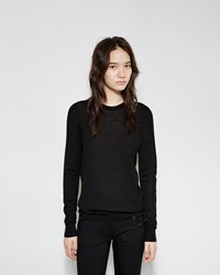 Proenza Schouler Superfine Merino Crewneck Sweater Black