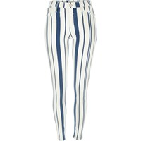 River Island Womens White Stripe Molly Jeggings