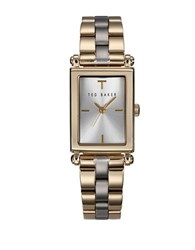 Ted Baker Ladies Hamilton Two Tone Rectangle Watch