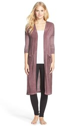 Women's Daniel Buchler Washed Out Lounge Robe Wine