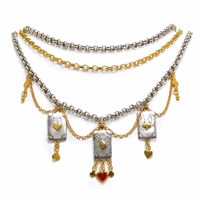 Sophie Harley London Showgirl Choker Red Gold Silver