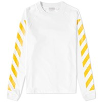Moncler O X Off White Long Sleeve Chevron Tee