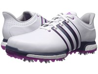Adidas Tour 360 Boost Ftwr White Flash Pink Mineral Blue Men's Golf Shoes