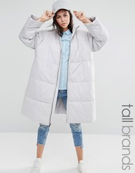 Waven Tall Oversized Padded Parka Coat Grey