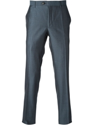 Faconnable Faconnable Tailored Cropped Trousers Blue