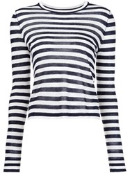 Jenni Kayne Striped Long Sleeves Blouse White
