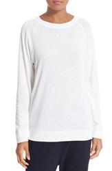 Vince Women's Pima Cotton And Cashmere Knit Top White
