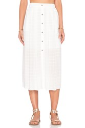 Wayf Button Front Skirt White