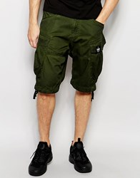 G Star G Star Cargo Shorts Rovic Loose Fit With Belt In Sage Green Sagerovicgreen