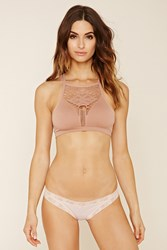 Forever 21 Stripe Lace Trim Thong