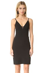 Alice Olivia Jean Lace Spaghetti Strap Dress Black