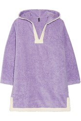 Lisa Marie Fernandez Cotton Terry Hooded Coverup Purple