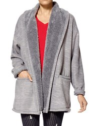 Hue Marley Fleece Robe Grey